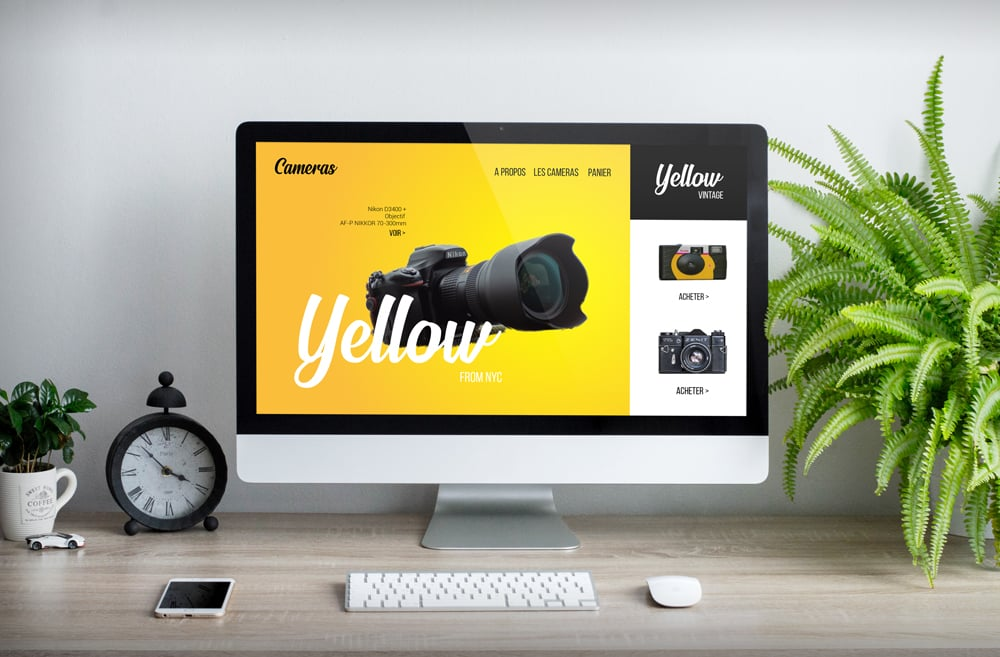 Webdesign Yellow Camera
